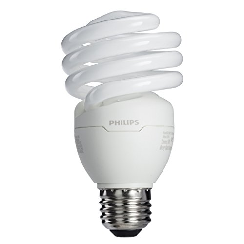 Philips 433557 23W 100-watt T2 Twister 6500K CFL Light Bulb, 4-Pack (Temperature Bulb compare prices)