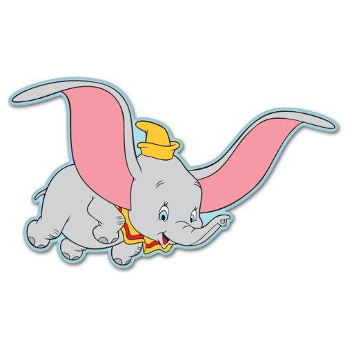 """Amazon.com : Dumbo the Flying elephant dumbo sticker decal 6"""" x 4"""