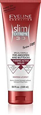 Slim Extreme 3D Thermo Active Serum Shaping Waist, Abdomen and Buttocks - Fat Burner,8.8 fl. oz