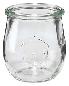 12 x Weckglas Mini-Tulpe - Inhalt 220 ml, Ø/H mm 60/ 80, mit Deckel
