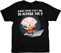 Family Guy Stewie Ignore You Black T-shirt Tee