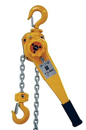 R&M Hoists RLP EZ Lift Lever Hoist, Single Fall, Hook Mount