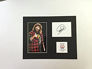 Limited Edition Mick Foley Signed Display Printed Autograph Boxing Autograph Autograf Autogram Signiert Signature Mount Frame