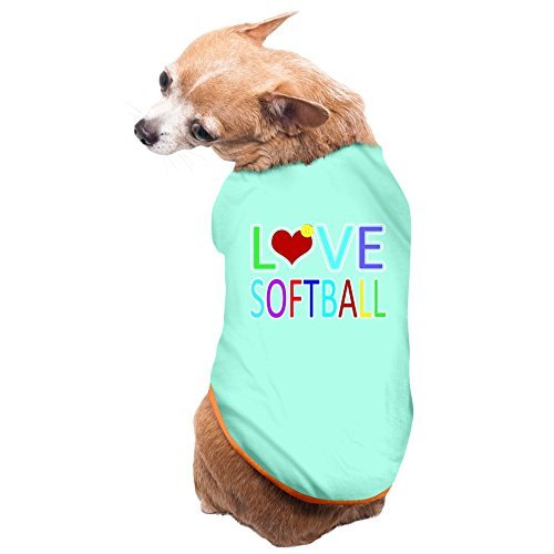 ZULA Unique Love Softball Doggie T-shirt SkyBlue Size M