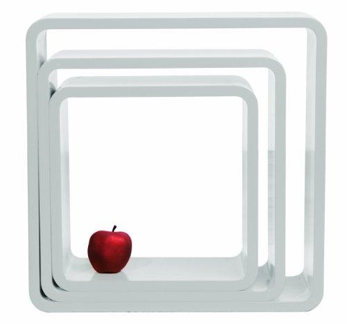 4687 Lounge Cuben Quadrat (3/Set), weiß