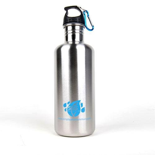Stainless Steel Water Bottle Canteen 40Oz. - Single Pack - Stainless Finish front-582790