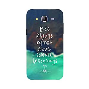 Back cover for Samsung Galaxy E5 Big Things often have small beginnings