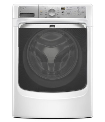 Maytag MHW6000AW Maxima 4.3 Cu. Ft. White Stackable With Steam Cycle Front Load Washer - Energy Star