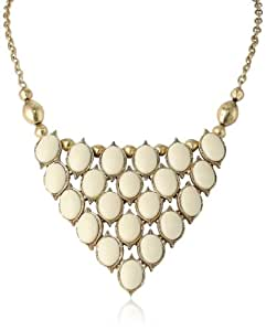 "Lucky Brand Stone Bib Necklace, 17"""