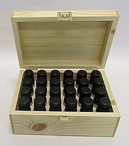Aceites Esenciales Pack de Iniciante En Caja de Madera 24 x 10ml - 100% Puro