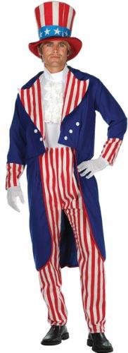 Super Deluxe Adult Uncle Sam Halloween Costume