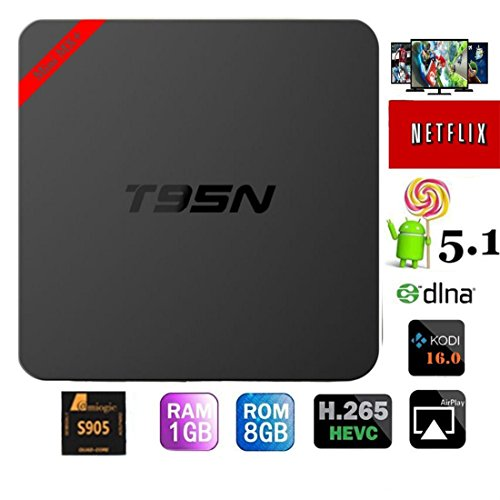 Best Review Of 2016 Newest T95N android tv box update from mx pro Amlogic S905 Quad Core android 5.1...