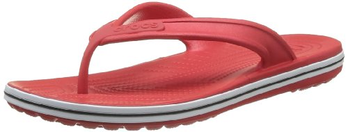 Crocs Unisex-Adult Crocband Flip Low Profile Thong Sandals 15690-610-184 Red 7 UK, 41 EU, 7 US, Regular
