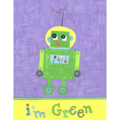 The Little Acorn Wall Art, Green Robot