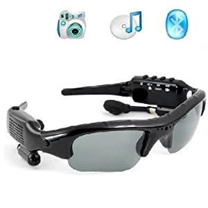 Liotus@ Dv88 Camera+video+mp3+bluetooth Sunglass 1.3mage Recording Speed 30fps Black