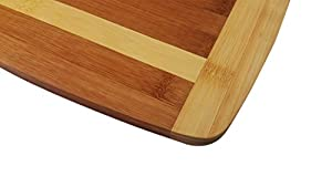 Kitchen Active Bamboo Cutting Board w/ Handle. Made With Premium Eco-Friendly Bamboo Wood