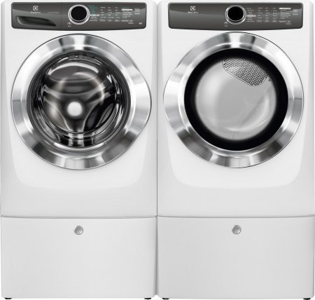 Electrolux White Front Load Laundry Pair with EFLS517SIW 27