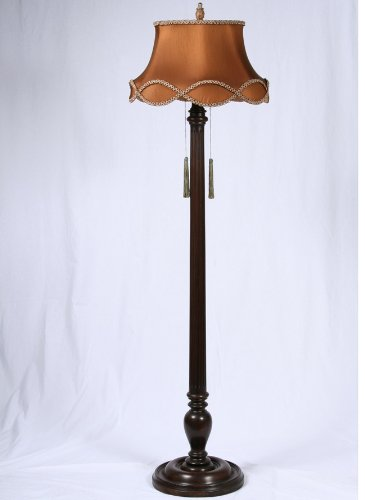 Retro Floor Lamps on Vintage Mahogany Floor Lamp  C 1930   Vintage Floor Lamp
