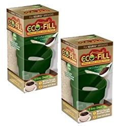 Eco-Fill Coffee Filter for Single Serve K-Cup Coffee Brewers- 2 Pack from Arm Enterprises