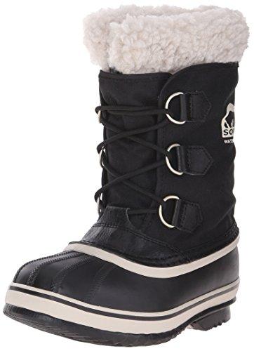 Sorel YOOT PAC NYLON - Stivaletti da neve a gamba corta, imbottitura pesante per bambini, nero (black 010), 37