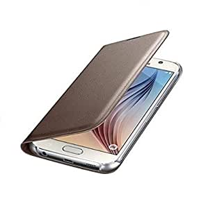 True Premium Leather Wallet Flip Case Cover for Samsung Galaxy A5-GOLD