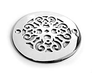 Designer Drains Brushed Nickel Classic Scrolls No 4 Round. Cute Decorations For Room. Expensive Halloween Decorations. Geometric Decoration. Garden Decoration Ideas. Decorative Items For Living Room. Mediterranean Home Decor. Pictures Of Coffee Table Decor. Yellow Living Room Furniture