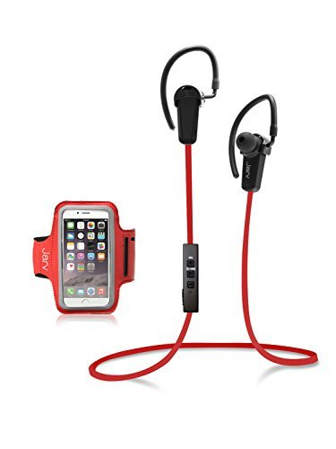 Jarv NMotion Bluetooth 4.0 Earbuds with Universal Sports Armband Red