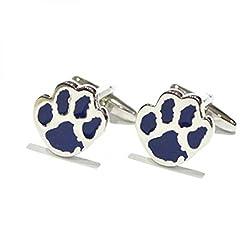 Blue Dogs Paw Design Cufflinks Present Pet Lover Cuff Links Giftset  from RetailZone