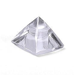 Shiva Rudraksha Ratna Natural Quartz Crystal / Sphatik Pyramid 12 to 13 gm. approx