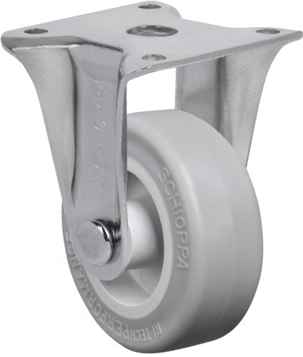 """Schioppa, Flap 210 Sp, 2"""" (50 Mm) Rigid Non-Brake Caster, Non-Marking Very Soft Rubber Wheel, 70 Lbs, Plate: 1-21/32 X 1-21/32"""" (Bh 1-1/4 X 1-1/4"""") front-387546"""