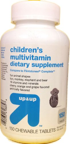 Children'S Multivitamin Dietary Supplement, 150 Chewable Tablets, By Up&Up, Compare To Flinstones Complete