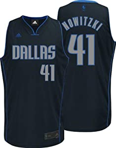 Dirk Nowitzki Adidas Graystone Dallas Mavericks Swingman Jersey by adidas