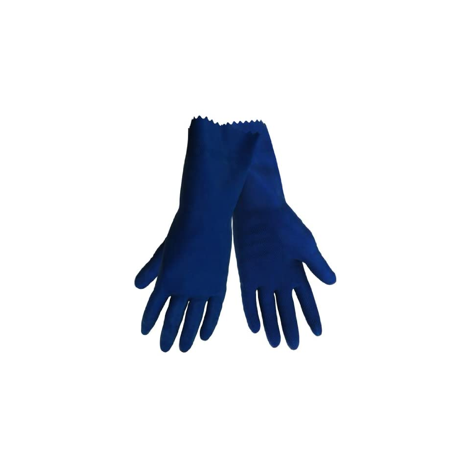 Global Glove 150 Unlined Rubber Canners Diamond Pattern Glove with Straight Cuff, Chemical Resistant, 17 mil Thick, Extra Large, Blue (Case of 144)