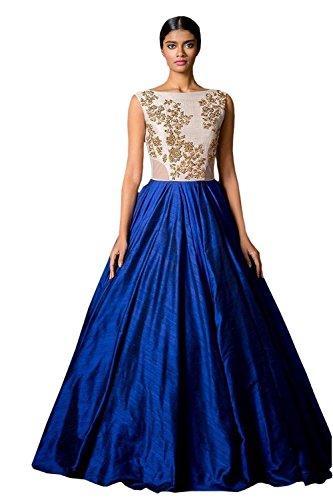 Hmp-Fashion-Womens-Cotton-Silk-Flower-Print-Lehenga-Blue-Lehenga-GownBlueFree-Size