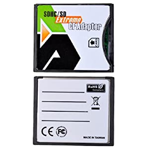 BestDealUSA Brand New SDHC SD MMC to Compact Flash CF Card Reader Adapter gu