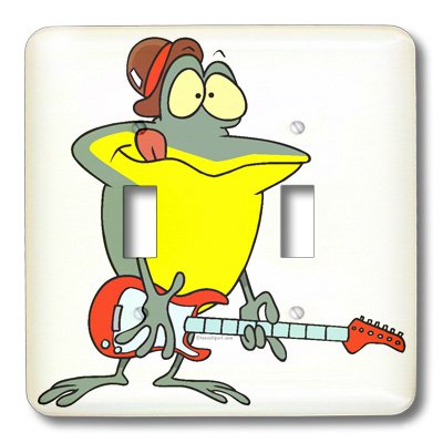 Lsp_104069_2 Dooni Designs Random Toons - Funny Frog Playing Electric Guitar - Light Switch Covers - Double Toggle Switch