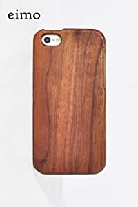 eimo (TM) Unique Handmade Natural Wood Wooden Hard bamboo Case Cover for iPhone 5 with free screen protector(walnut)