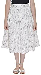 FADJUICE Women's Skirt (FJ-GS-005_30, White, 30)