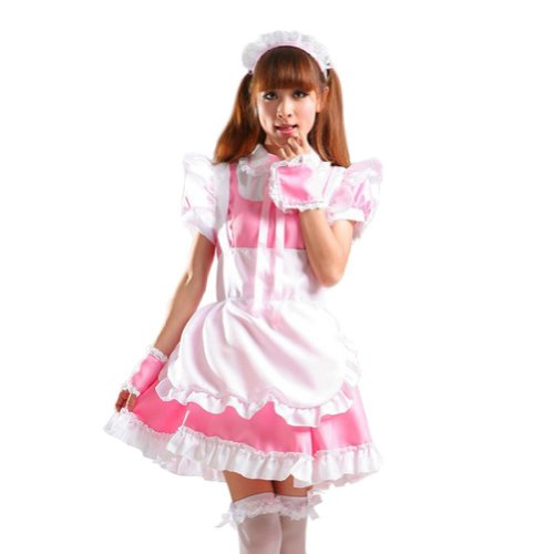 Treasure-box Women's Coffee Shop Servant Cosplay Uniform French Maid Costume