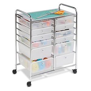 Honey-Can-Do 12 Drawer Studio Organizer Cart, Chrome