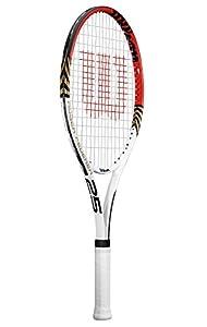 Wilson Kids Roger Federer 21 Tennis Racquet - White/Red, 21 Inch