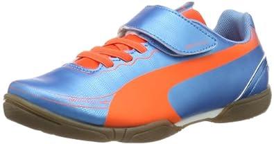 Puma evoSPEED 5.2 IT V Jr 102992 Unisex-Kinder Fußballschuhe, Blau (sharks blue-fluro peach-fluro yellow 04), EU 29 (UK 11) (US 12)