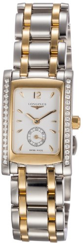 Longines Dolce Vita Two-Tone Stainless Steel & 18k Gold Diamond Womens Watch L5.155.5.29.7