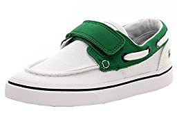 Lacoste Keel 116 2 Boat Shoe (Toddler/Little Kid/Big Kid), White/Green, 4 M US Toddler