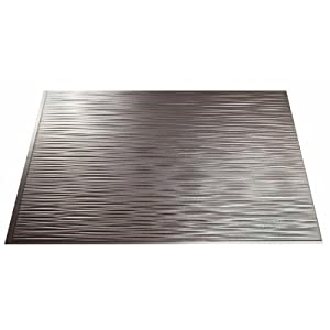 backsplash 18inx24in ripple brushed nickel backsplash panel