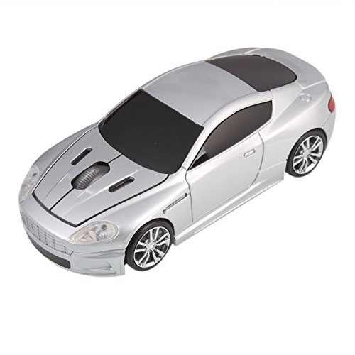 Great Value Mice & Presenters 3255 Car Shape 2.4G Optical Wireless Mouse Silver