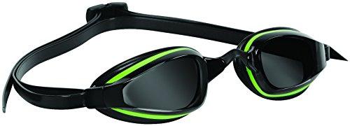 AQUA SPHERE K180+ Occhialini Nuoto lenti fumè, colore: Nero/Verde