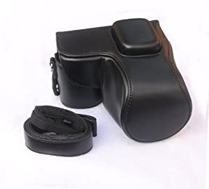 """RainbowImaging """"Ever Ready"""" Protective Black PU Leather Camera Case , Bag for Samung NX2000"""
