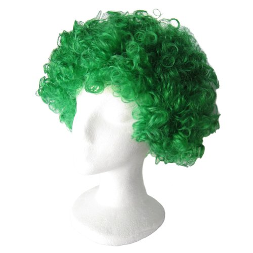 SeasonsTrading Economy Green Afro Wig ~ Halloween Costume Party Wig (STC13037)