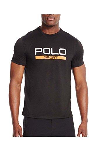 Polo Sport® Men's Performance Jersey Short Sleeve T-Shirt (X-Large, Polo Black)